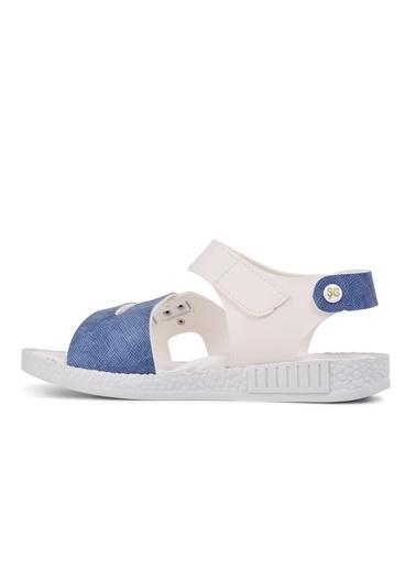 Şiringenç 210107 Lacivert-Kot Mavi Comfort Erkek Çocuk Sandalet Beyaz